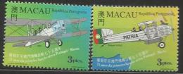 Macau 1999 First Portugal Macau Flight 75th Anniversary Set MNH - 1999-... Chinese Admnistrative Region