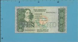 South Africa - 10 RAND - ( 1990 - 93 ) - Pick 120.e - Sign. 7 - Watermark: Jan Van Riebeek - 2 Scans - Afrique Du Sud
