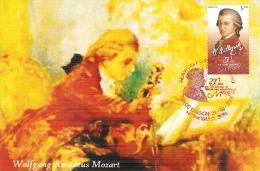 2006 México  Maximum Card 250 Años Del Natalicio De Wolfgang Amadeus Mozart  (1756-2006) Music Composer - Mexico