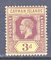 CAYMAN ISLANDS  37     *   Wmk 3 - Cayman Islands
