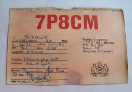 QSL,RADIO AMATEUR-KINGDOM OF LESOTHO - Radio Amateur