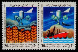 JOURNEE METEOROLOGIQUE MONDIALE 1989 - PAIRE NEUVE ** - YT 2115/16 - MI 2335/36 - Iran