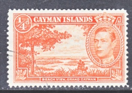CAYMAN ISLANDS  100a  Perf  13 1/2- 12 1/2   (o) - Cayman Islands