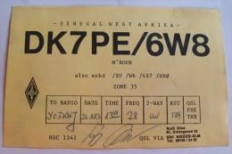 QSL,RADIO AMATEUR-SENEGAL,WEST AFRIKA - Radio Amateur