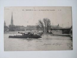 ROUEN La Seine Au Pont Corneille ( Péniche ) - Rouen