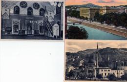 Yougoslavie -  Sarajevo - 3 Cpa Dont 1 Couleur (1 écrite) - Yougoslavie
