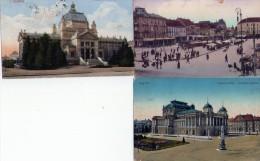 Yougoslavie -  Zagreb - 3 Cpa Couleur (écrites) - Yougoslavie