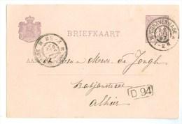HANDGESCHREVEN BRIEFKAART Uit 1897 Van LOKAAL ´s-GRAVENHAGE * VOORDRUK NVPH 33 (8778) - Ganzsachen