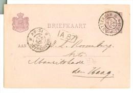 HANDGESCHREVEN BRIEFKAART Uit 1896 Van ROTTERDAM Naar ´s-GRAVENHAGE * VOORDRUK NVPH 33 (8778b) - Ganzsachen
