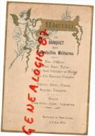 73 - BARBERAZ CHAMBERY - RARE MENU DU BANQUET DES MEDAILLES MILITAIRES -RESTAURANT DU MONT CARMEL -8 JUIN 1913 - Menus