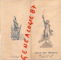 75002 - PARIS - GRAND BAL MILITAIRE A L' OPERA -19 DECEMBRE 1896-TOUR D' AUVERGNE - CARNET DE BAL- MENU GRAND HOTEL - Menus