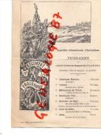 75 - PARIS - RARE PROGRAMME DU CONCERT DONNE AU BANQUET 19 AVRIL 1903- EXPOSITION HORTICULTURE-1ER REGIMENT DE LIGNE- - Menus