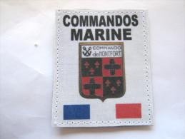 (PRIX SPECIAL) INSIGNE TISSUS PATCH DES COMMANDOS MARINE COMMANDO DE MONTFORT ETAT EXCELLENT SUR VELCRO