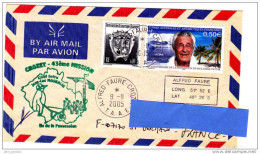 [K] Enveloppe Cover TAAF French Antarctic Paul-Emile Victor Manchot Penguin Polar Polaire Blason Coat Of Arms - Célébrités