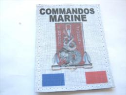 (PRIX SPECIAL) INSIGNE TISSUS PATCH DES COMMANDOS MARINE COMMANDO JAUBERT ETAT EXCELLENT SUR VELCRO