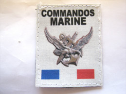 (PRIX SPECIAL) INSIGNE TISSUS PATCH DES COMMANDOS MARINE COMMANDO HUBERT ETAT EXCELLENT SUR VELCRO