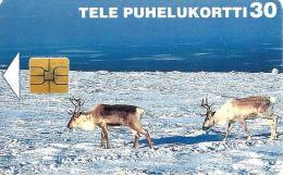 FINLAND 30 U RAIN DEER ANIMAL ANIMALS LANDSCAPE 1997 ED.12/99 CHIP READ DESCRIPTION !!