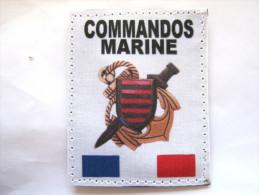 (PRIX SPECIAL) INSIGNE TISSUS PATCH DES COMMANDOS MARINE  ETAT EXCELLENT SUR VELCRO