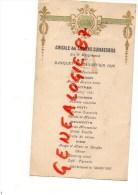 37 - SAINT AVERTIN- RARE MENU AMICALE ANCIENS CUIRASSIERS DU 5 E REGIMENT- 1928- HOTEL RESTAURANT DU GRAND TURC - Menus