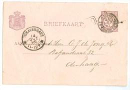 HANDGESCHREVEN BRIEFKAART Uit 1896 Van LOKAAL ´s-GRAVENHAGE * VOORDRUK NVPH 33 (8778f) - Postal Stationery