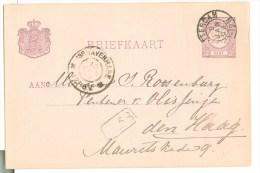 HANDGESCHREVEN BRIEFKAART Uit 1896 Van ROTTERDAM Naar ´s-GRAVENHAGE * VOORDRUK NVPH 33 (8778h) - Postal Stationery