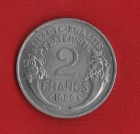 2 Francs Morlon, Aluminium 1959
