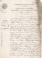 VP1247 - Généalogie - PARIS - Extrait Acte De Mariage Mr C.A. CANIT & Melle C. NICOL Née à ROSCOFF - Manuscripts