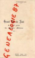 75002 - PARIS - RARE MENU GRAND BAL DE NUIT 190E SECTION MEDAILLES MILITAIRES-HOTEL COLONIES-1931 RUE PAUL LELONG - Menus