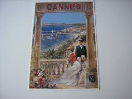 06  - CANNES  A LA BELLE EPOQUE *  REPRO AFFICHE ANCIENNE - 1910 *  ILLUSTRATION DESSIN DE ROBAUDI ( ALPES-MARITIMES ) - Cannes