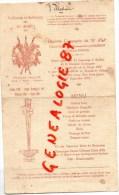 23 - VILLEDIEU - MENU 11E CIE DU 31E REGIMENT INFANTERIE-COLONEL LEJAILLE-JACQUEMOT-KNAUSS-1912 BATAILLE VALMY - Menus
