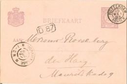 BRIEFKAART Uit 1895 Van ROTTERDAM Naar DEN HAAG NVPH 33 VOORDRUK (8774a) - Ganzsachen