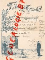 49 - SAUMUR - PROGRAMME MUSIQUE D' ARTILLERIE AU MANEGE DE CAVALERIE -1ER AOUT 1897- CH. RECOUF - Programmes