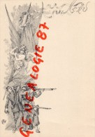 MENU  MILITAIRE - GUERRE 1870   1914-1918 - Menus