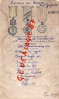 MENU  MILITAIRE - GUERRE 1914-1918 - HONNEUR AUX BRAVE PAUL RAYMOND - 25 DECEMBRE 1920 - Menus