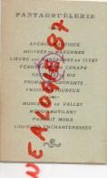 MENU  MILITAIRE - GUERRE 1914-1918 - PANTAGRUELERIE 9 NOVEMBRE 1919- A. COTTINEAU  CONSCRIT DE 75 - Menus