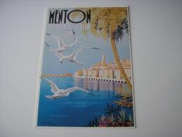 06 * MENTON COTE D'AZUR PLM *  REPRODUCTION D'AFFICHE (ALPES-MARITIMES) - ILLUSTRATION DESSIN  BEGLIA - Menton