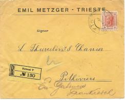 LBL26F - EMPIRE AUTRICHIEN  LETTRE COMMERCIALE  TRIESTE / PITHIVIERS SEPTEMBRE 1906 - Brieven En Documenten