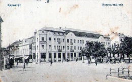 Yougolavie :  Kaposvar - Carte Animée + Attelage (1918) - Yougoslavie