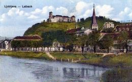 Yougolavie : Ljubljana - Carte Couleur (vierge) - Yougoslavie