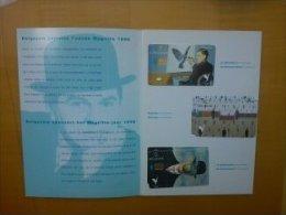 Set René Magritte 3cards (Mint,Neuve ) With Folder - Belgique