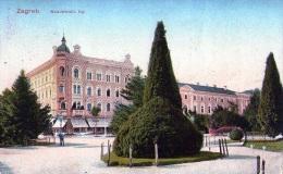 Yougolavie :  Zagreb - Carte Couleur (écrite) - Yougoslavie