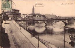 DRESDEN - Terrassenufer - Augustusbrücke - Dresden