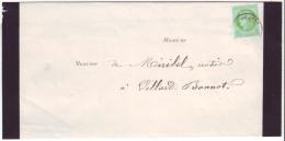 ISERE - LSC - Tàd T17 DOMENE Sur N° 53 (tarif Avis Sous Env Ouvertes Correspondances Locales) Pour Villard Bonnot (37) - Marcophilie (Lettres)