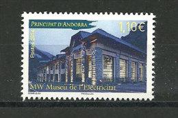ANDORRE. Musée De L´Electricité à Andorre.  Un T-p Neuf **  2014 - Ongebruikt
