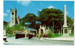 C P S M-C P M-------BARBADES---war Memorial Trafalgar Square------voir 2 Scans - Barbades