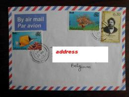 Mauritius 2009 - Letter / Envelope With Stamps Fishes + Famous Writers (Alexandre Dumas) - Maurice (1968-...)