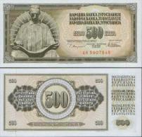 YUGOSLAVIA  500  DINARA 1978  UNC , P-91a  Serial Number With 7 Numerals  And Two Narrow  Letter - Joegoslavië