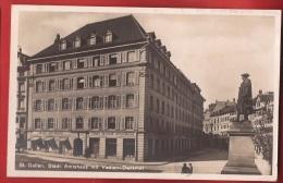 CDS8-22 St. Gallen Amtshaus Mit Vadian-Denkmal. Gelaufen In 1925 Nach Erlen Grabs - SG St. Gallen