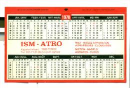 Kleine Kalender 1978 - ISM-ATRO Temse - Op Autocollant/ Op Sticker - Calendriers