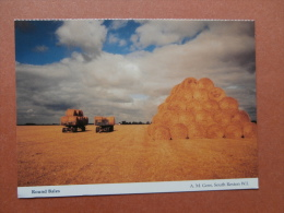35663 PC: AGRICULTURE: Round Bales.        A. M. Goss, South Reston WI. - Farms